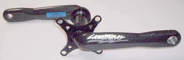 MTB crank with reversible 64/104 spyder can be set up for either 2×9/10 double or 3x9/10 triple