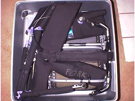 Close-up of the Voyager in its case