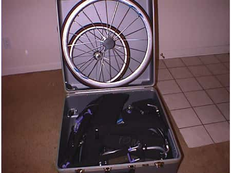 Voyager in its case